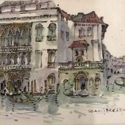8-Auction VIII Venice, Italy, 1972 RM 6,600.00-SOLD | Watercolour and Chinese ink on rice paper | 47 x 67 cm