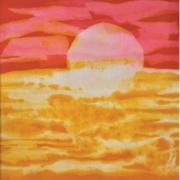 Sunrise, 1984 RM 1,980.00-SOLD | Batik | 70 x 63 cm