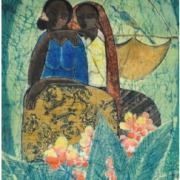3-Two Sisters, 2008 RM 5,500.00-SOLD | Batik | 74 x 46 cm