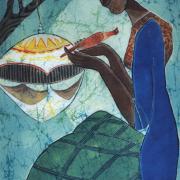 4-Birdcage, 2006 RM 7,700.00-SOLD | Batik | 76 x 48 cm