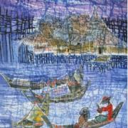 2-Day in Sea, 2009 RM 4,400.00-SOLD | Batik | 74 x 46 cm