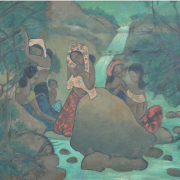 5-By the River, 1996 RM 7,150.00-SOLD | Oil on canvas | 76.5 x 88.5 cm