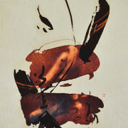 """Tang Da Wu """"S 98"""" (1987) 2-Auction XII Watercolour and Ink on paper 56.cm x 37.5cm RM 6,000 - 11,000"""