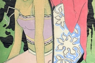 Lot-47-Tay-Chee-Toh-Hair-Dressing-1968-ink-and-gouache-on-paper-95-x-45-cm