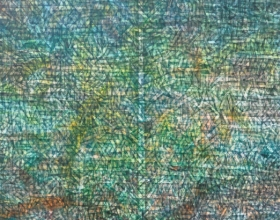 Nizar Kamal Ariffin (2012) Siri Pohon Beringin - Daerah 12, 152 x 152, Acrylic on Canvas SOLD