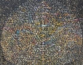 Nizar Kamal Ariffin (2012) Siri Pohon Beringin - Daerah 16, 132 x 132, Acrylic on Canvas