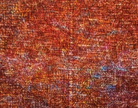 Nizar Kamal Ariffin (2012) Siri Pohon Beringin - Daerah 23 Acrylic on canvas 217 x 217 cm