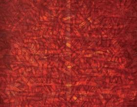 Nizar Kamal Ariffin (2012) Siri Pohon Beringin - Daerah 28 Acrylic on canvas 100 x 100 cm