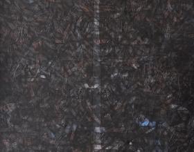 Nizar Kamal Ariffin (2012) Siri Pohon Beringin - Daerah 29 Acrylic on canvas 100 x 100 cm SOLD
