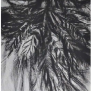 4-Leaves, 2002 RM 2,090.00-SOLD | Charcoal on paper | 52 x 76 cm