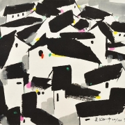 Roofs, 1997 RM 7,840.00-SOLD | Lithograph, Edition 22:160 | 44.5 x 48 cm