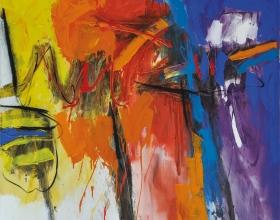 10-Mohamad Ismadi Sallehudin, Breakthrough, 2013, Acrylic on canvas, 152.5 x 152