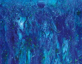 5-Ismail Latiff, Paya Berendam... Mutiara Pagi, 2012, 102 x 102cm, Acrylic on canvas
