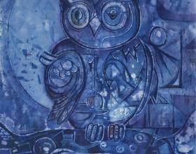 1-Chuah Seow Keng, Batik, 51.5 x 36 An Owl, 2008
