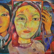 2-Wedding Series, Early 1990s RM 4,480.00-SOLD | Oil on canvas | 40 x 61 cm