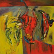 18-RM 24,200.00-SOLD Yusof Ghani, Musang Berjanggut, 1997, 91 x 91 cm, Acrylic on canvas