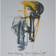 9-Siri Topeng Sketch, 1995 RM 5,500.00-SOLD | Mixed media on paper | 23 x 16 cm