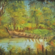 2-Riverscape, Circa 1970s RM 5,600.00-SOLD | Oil on canvas | 37.5 x 60 cm