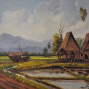 Yusof Abdullah Sawah Padi See, 1962 Oil on canvas 38 x 58 cm