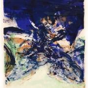 3-Komposition Mit Blau, 1975 Komposition In Scharwz, 1962 RM 7,150.00-SOLD | Colour lithograph | 21.7 x 15.8 cm