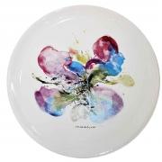 5-L-Orchidee, 1986 RM 22,000.00-SOLD | Silkscreen after a watercolour on porcelain plate | 25 cm diameter