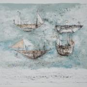 2-Violes A Ler Mer, 1953 RM 24,200.00-SOLD | Colour Lithograph | 40 x 53 cm