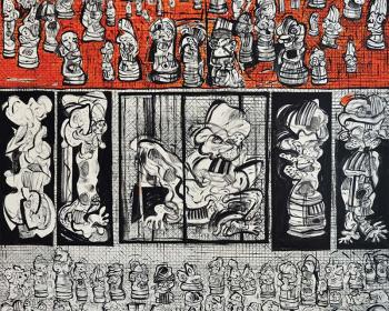 15-Zulkifli-Yusoff-The-Cage-1997-Acrylic-on-canvas-152-x-152cm