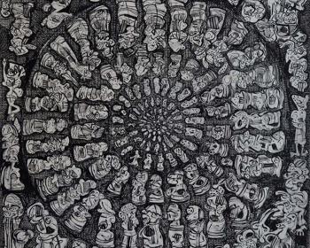 1_35-Zulkifli-Yusoff-Co-operation-1997-Acrylic-on-canvas-152-x-152-cm