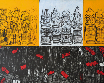 89-Zulkifli-Yusoff-Treasure-Hunt-1997-Acrylic-on-canvas-152-x-213-cm-